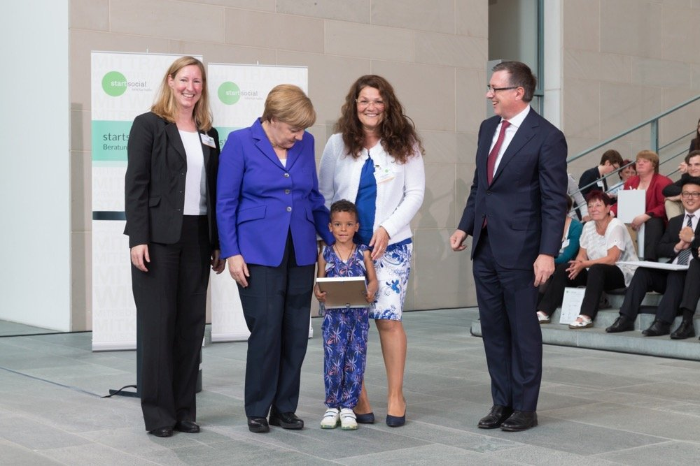 Angela Merkel mit Bettina Jantzen